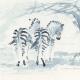 Zebror i skugga - såld