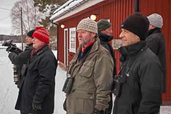 Fågelskådare vid Väsby gård, Järvafältet