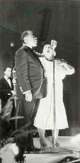 Louis Armstrong och Velma Middleton, Umeå 1956