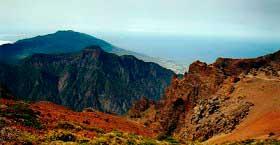Utsikt från Roque de los muchachos