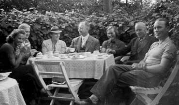 Kaffe i bersån hos Margaretas farföräldrar 1939