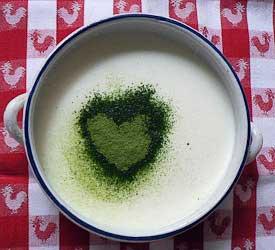 Morgonmatcha – grönt te i fil – bra för hjärtat